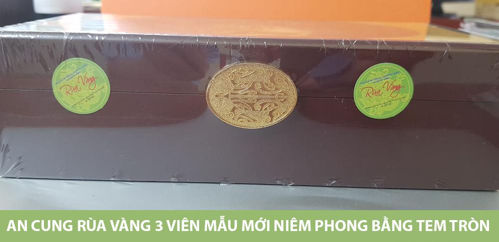 Khóa hộp An cung Rùa vàng có hình biểu tượng con Rùa vàng sắc nét